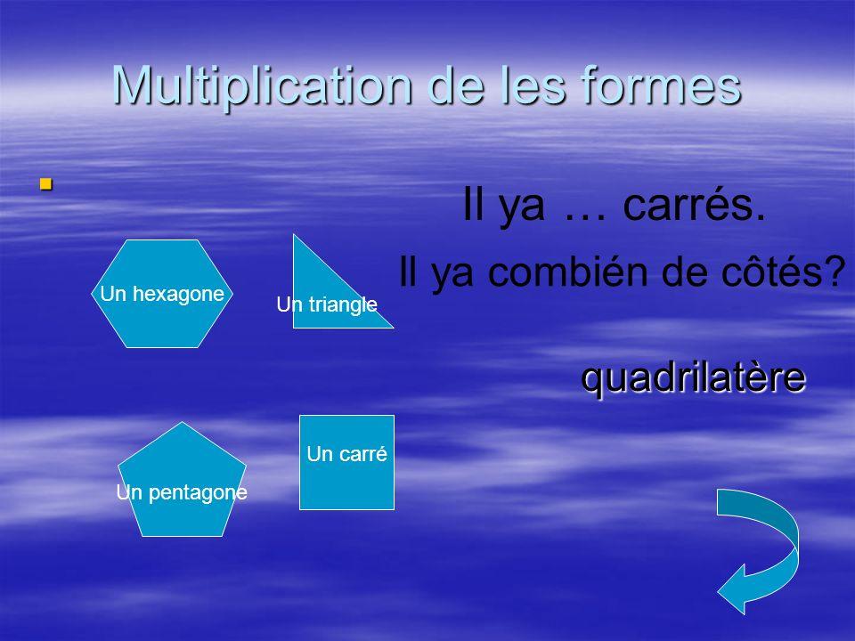 Multiplication de les formes