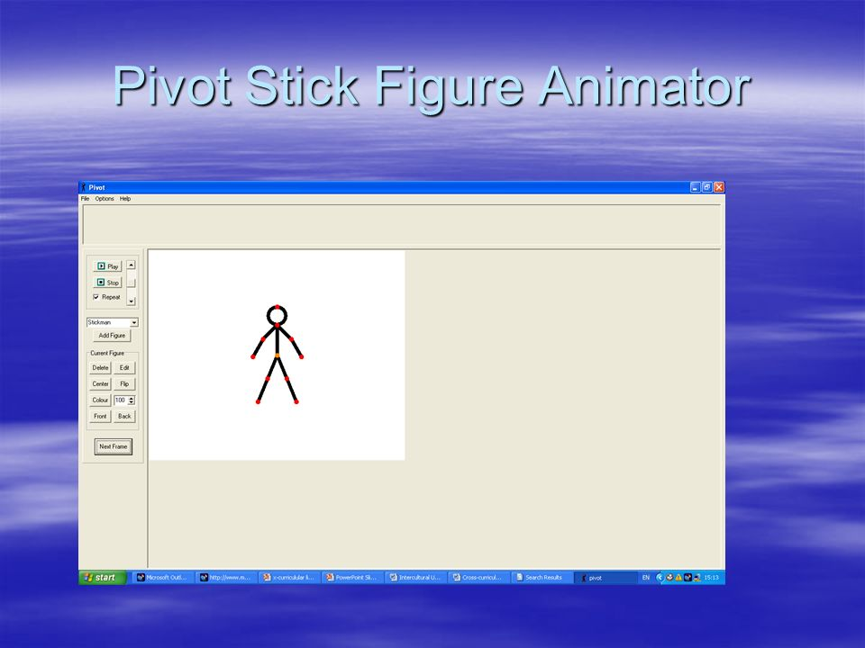 Pivot Stick Figure Animator