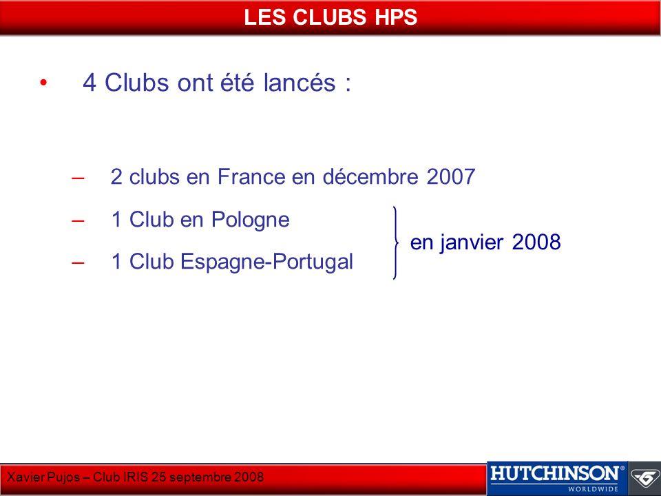 4 Clubs ont été lancés : LES CLUBS HPS