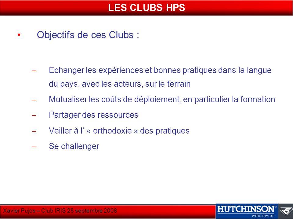 Objectifs de ces Clubs :