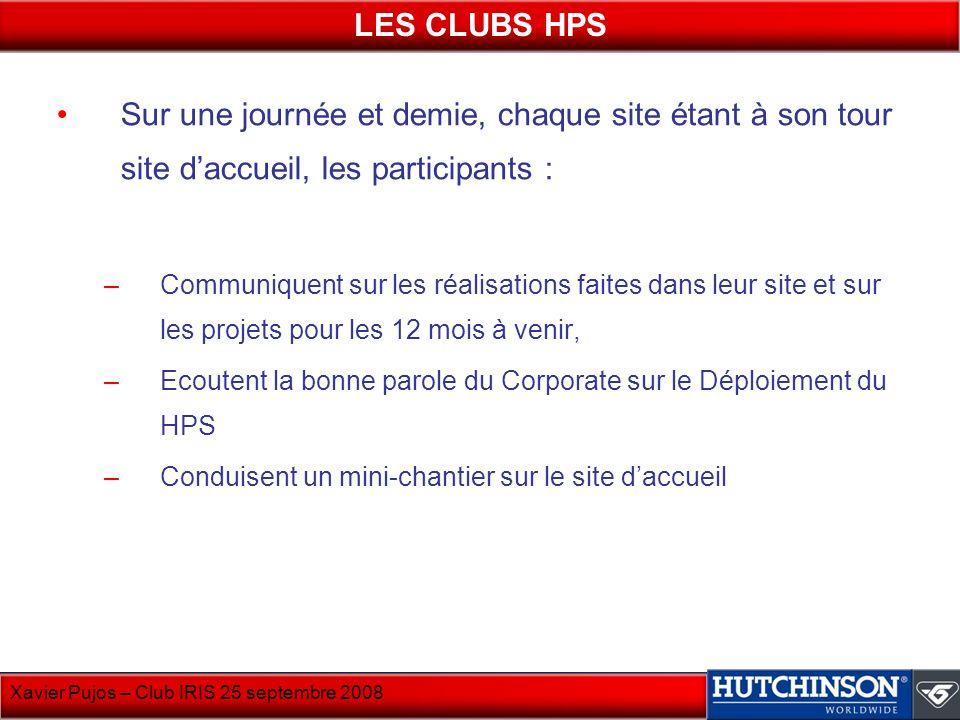 LES CLUBS HPS Sur une journée et demie, chaque site étant à son tour site d'accueil, les participants :