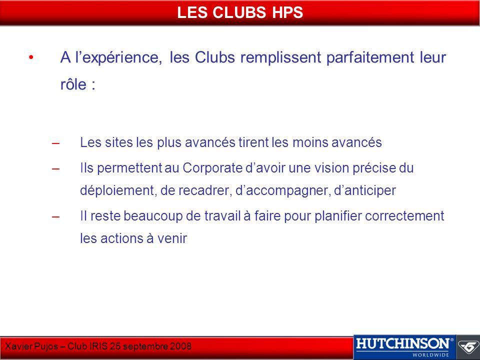 A l'expérience, les Clubs remplissent parfaitement leur rôle :