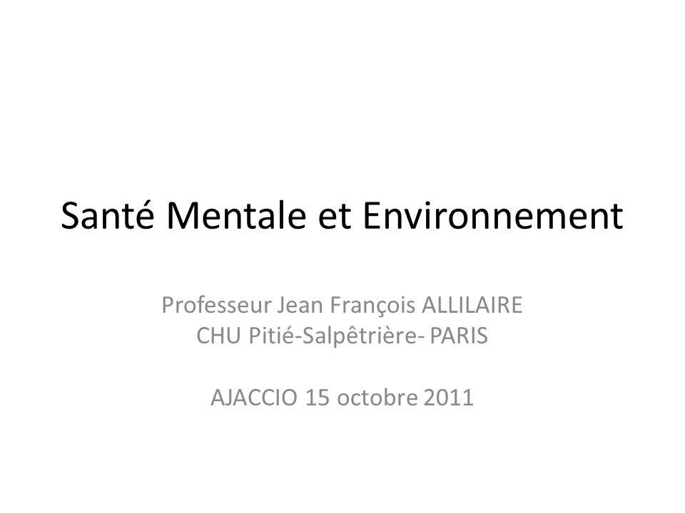 Santé Mentale et Environnement