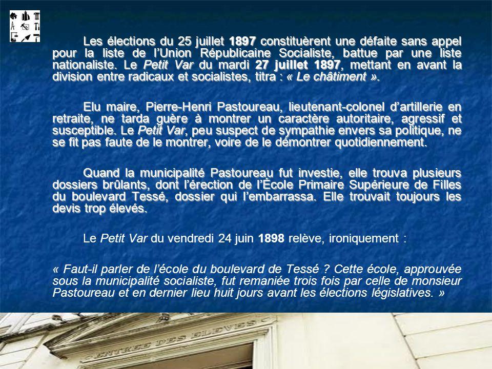 Le Petit Var du vendredi 24 juin 1898 relève, ironiquement :