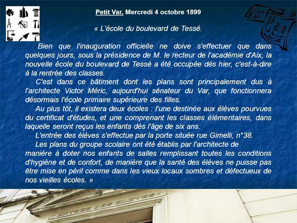 Petit Var, Mercredi 4 octobre 1899
