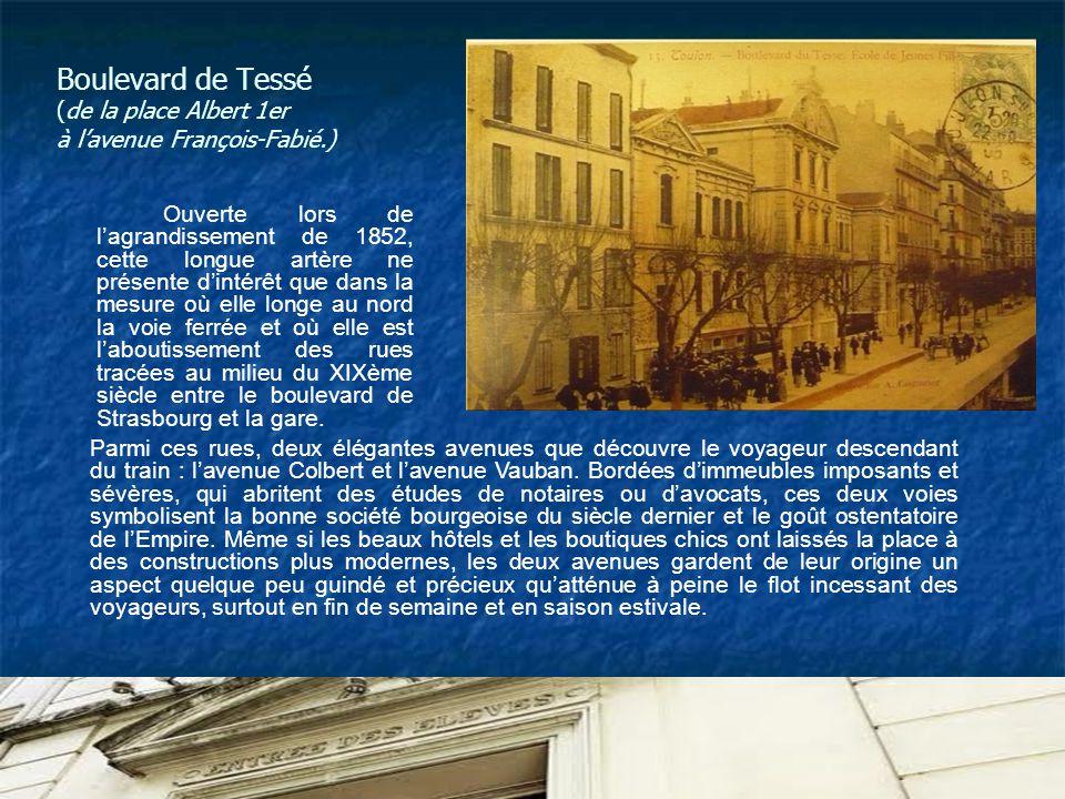 Boulevard de Tessé (de la place Albert 1er à l'avenue François-Fabié.)