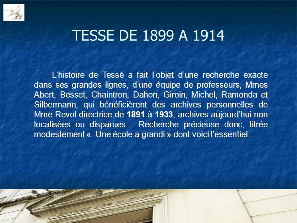 TESSE DE 1899 A 1914