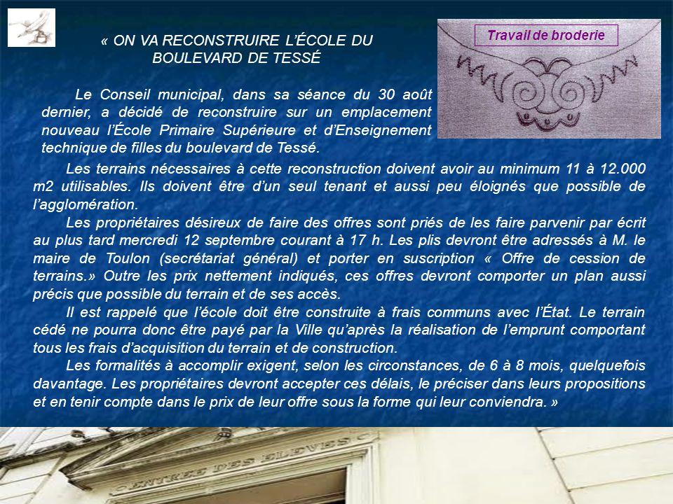 « ON VA RECONSTRUIRE L'ÉCOLE DU BOULEVARD DE TESSÉ