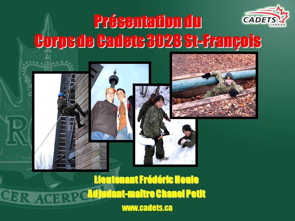 Présentation du Corps de Cadets 3028 St-François