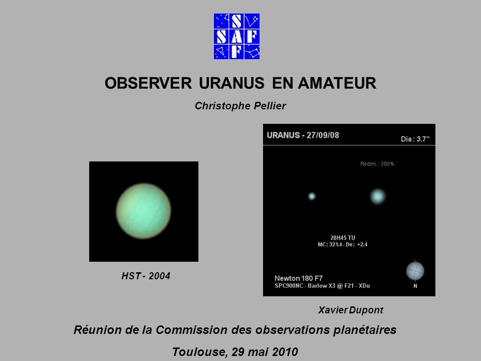 OBSERVER URANUS EN AMATEUR