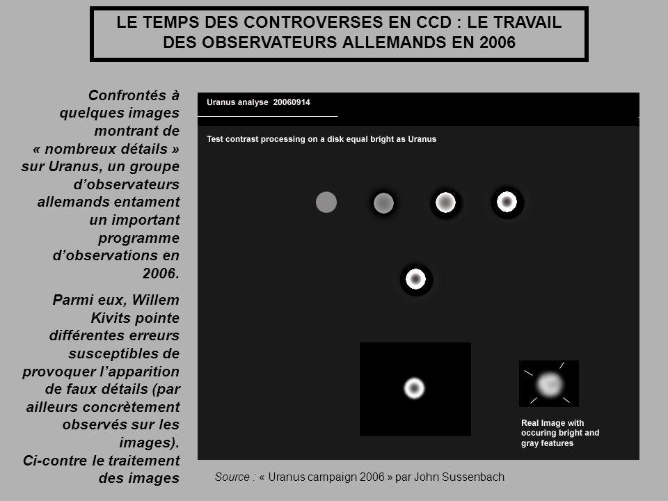 LE TEMPS DES CONTROVERSES EN CCD : LE TRAVAIL DES OBSERVATEURS ALLEMANDS EN 2006