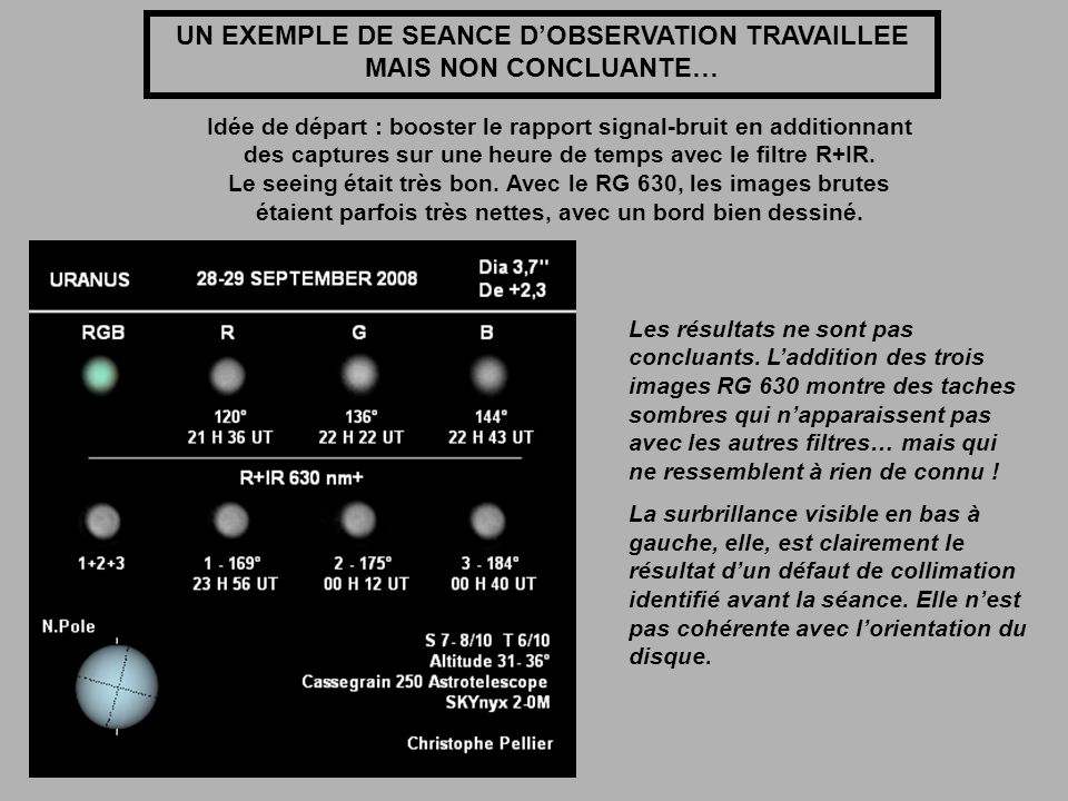 UN EXEMPLE DE SEANCE D'OBSERVATION TRAVAILLEE MAIS NON CONCLUANTE…