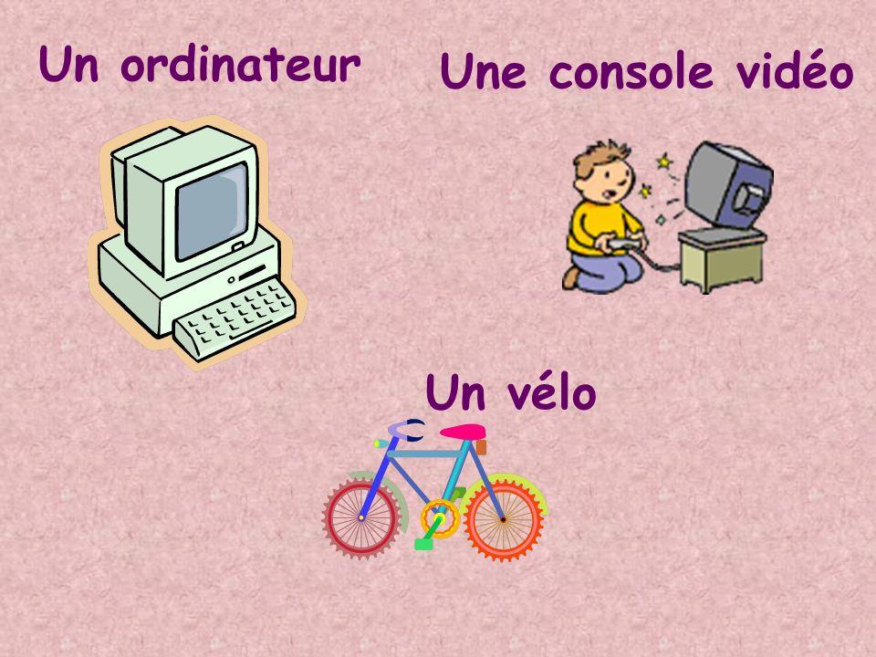 Un ordinateur Une console vidéo Un vélo