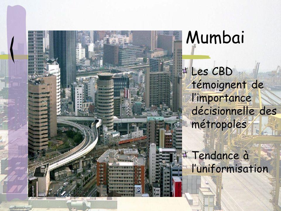 Mumbai Les CBD témoignent de l'importance décisionnelle des métropoles