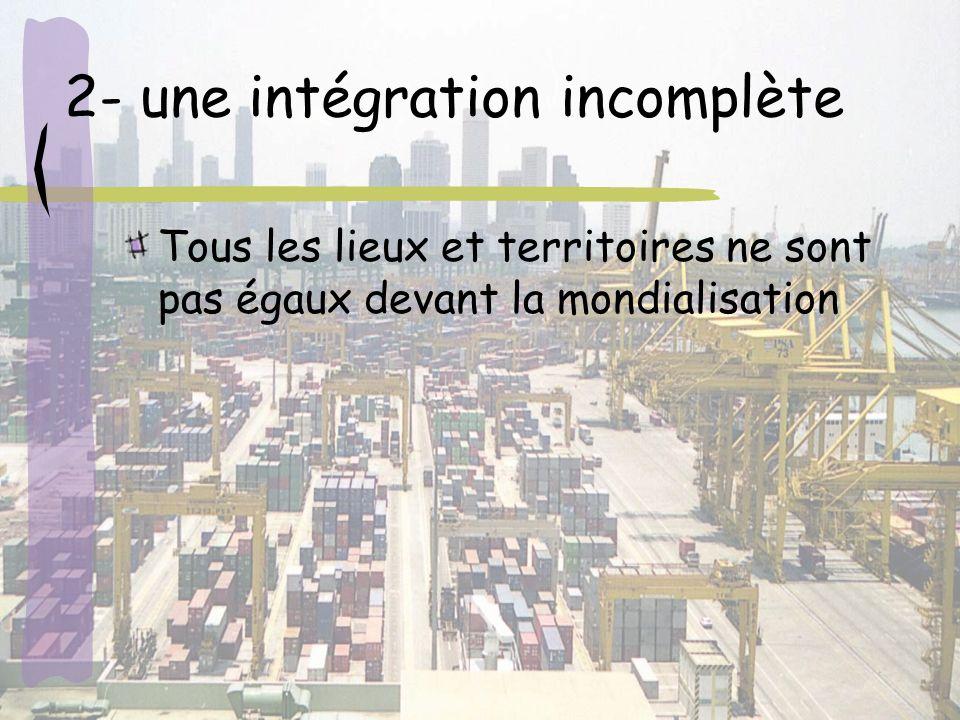 2- une intégration incomplète