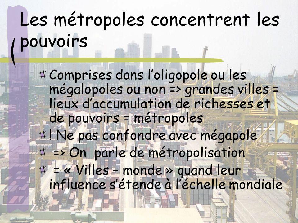 Les métropoles concentrent les pouvoirs