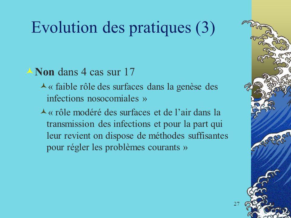 Evolution des pratiques (3)
