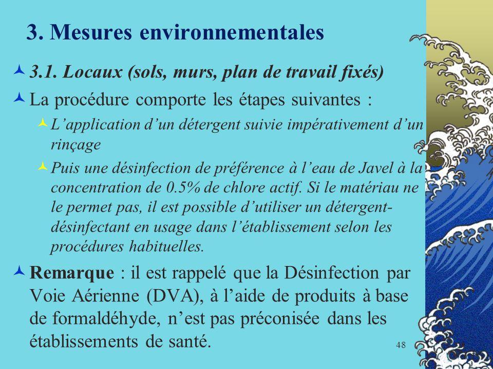 3. Mesures environnementales