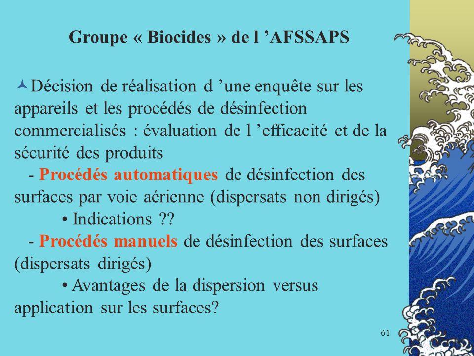 Groupe « Biocides » de l 'AFSSAPS