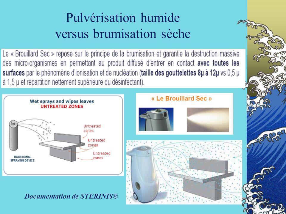 Pulvérisation humide versus brumisation sèche
