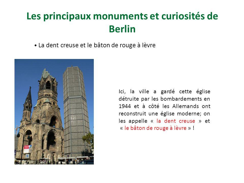 Les principaux monuments et curiosités de Berlin
