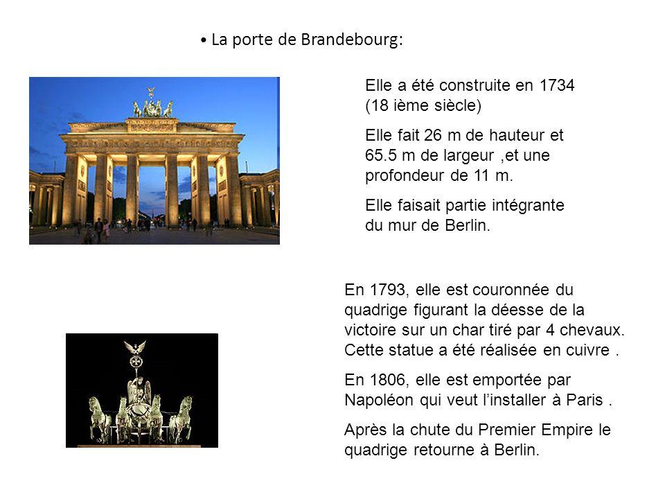 La porte de Brandebourg: