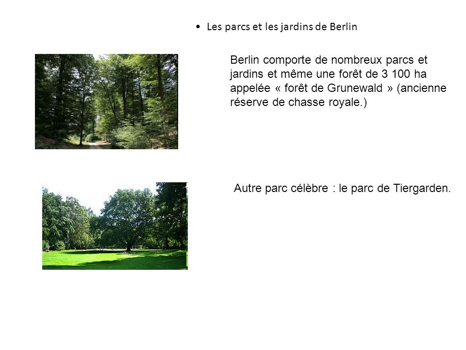 Les parcs et les jardins de Berlin