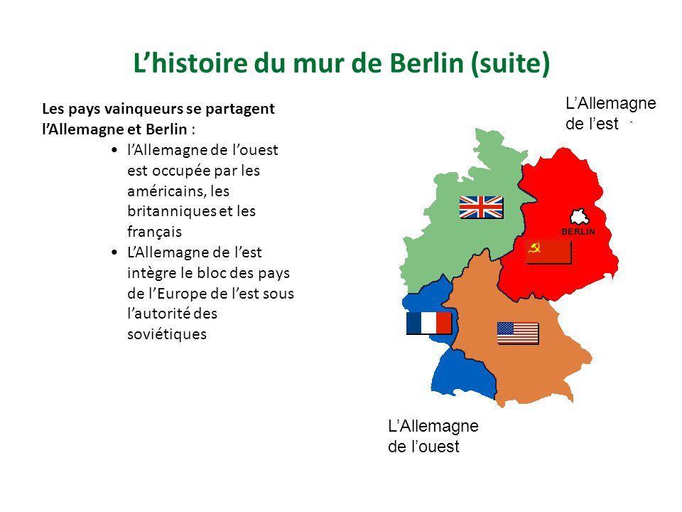 L'histoire du mur de Berlin (suite)