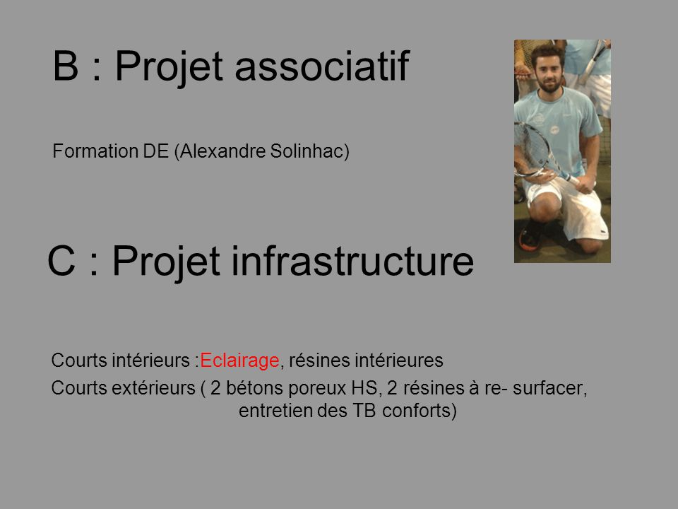 B : Projet associatif Formation DE (Alexandre Solinhac)