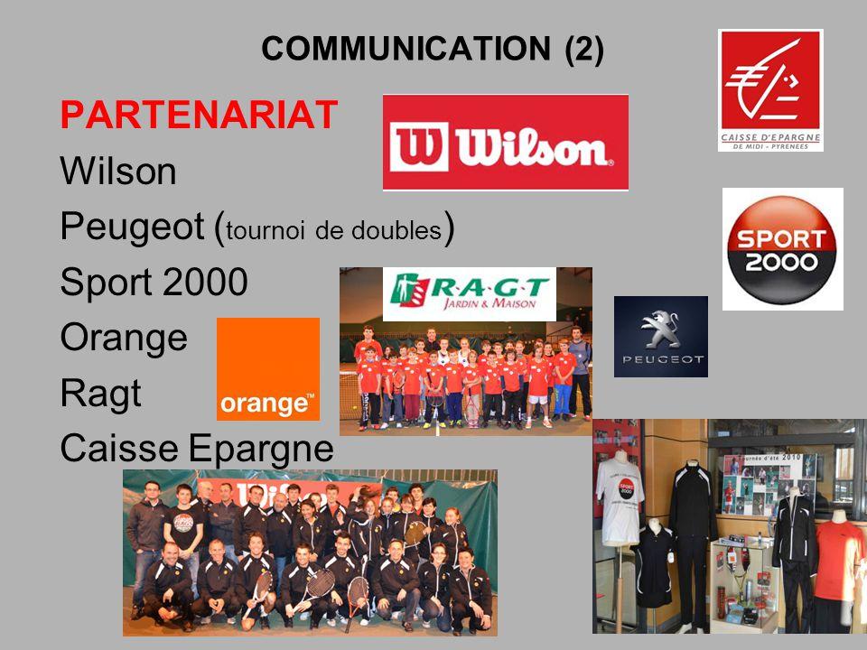 Peugeot (tournoi de doubles) Sport 2000 Orange Ragt Caisse Epargne