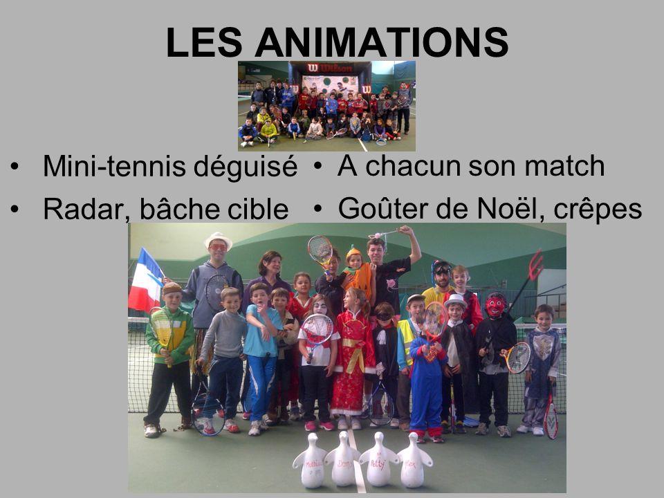 LES ANIMATIONS Mini-tennis déguisé A chacun son match