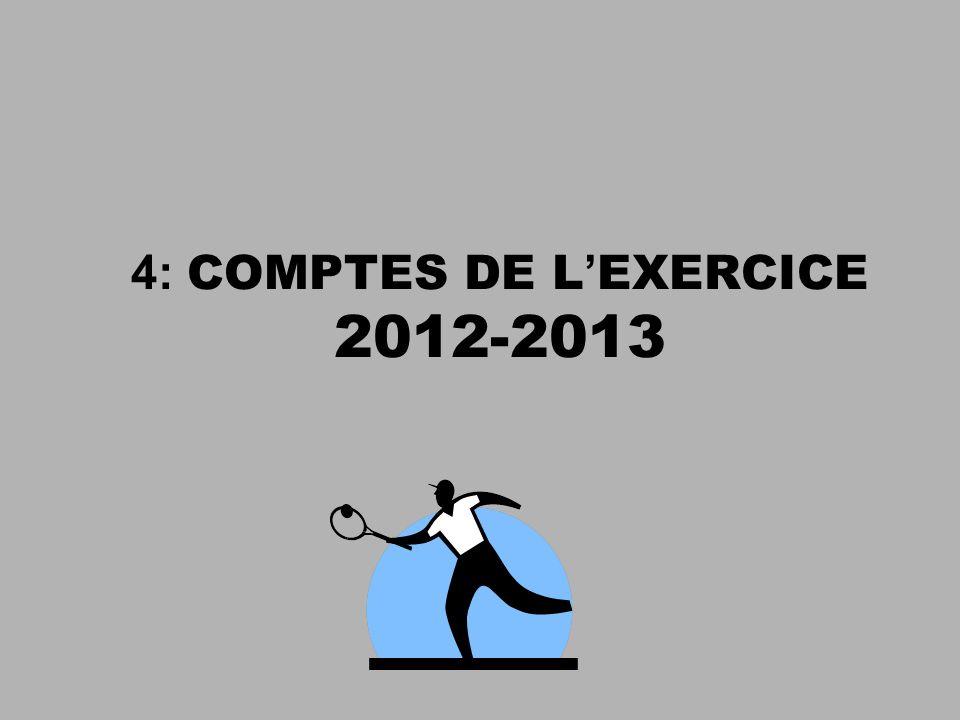 4: COMPTES DE L'EXERCICE 2012-2013