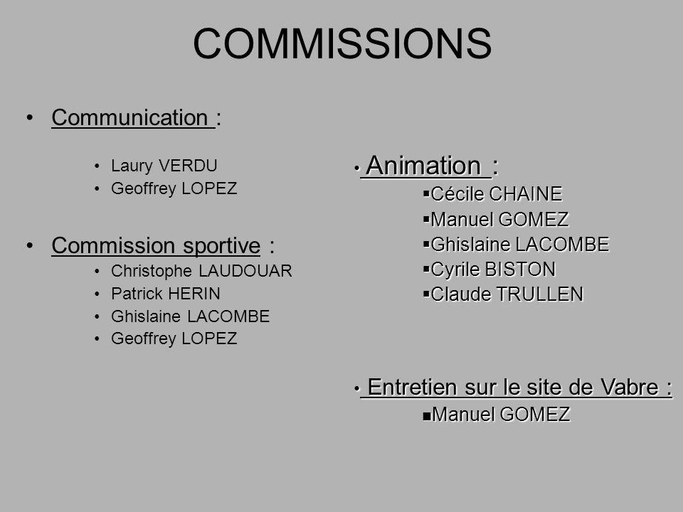 COMMISSIONS Animation : Entretien sur le site de Vabre :