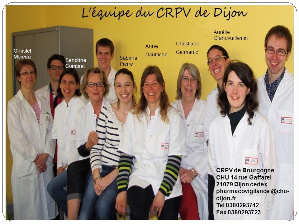pharmacovigilance @chu-dijon.fr Tel 0380293742 Fax 0380293723
