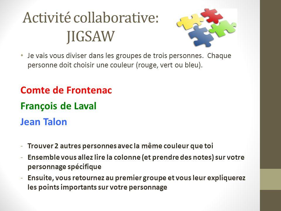 Activité collaborative: JIGSAW