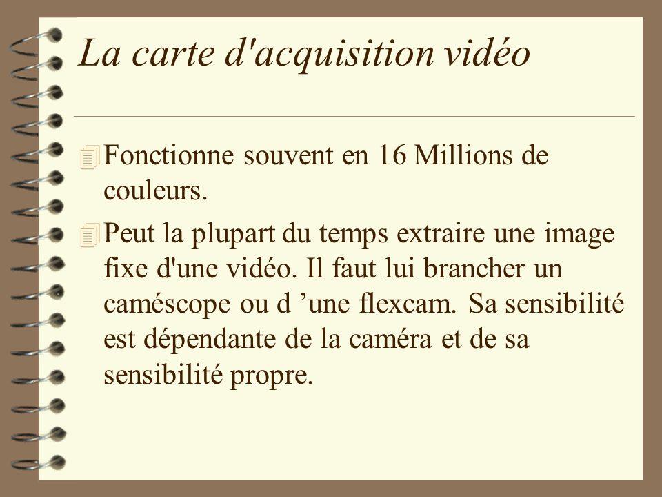 La carte d acquisition vidéo