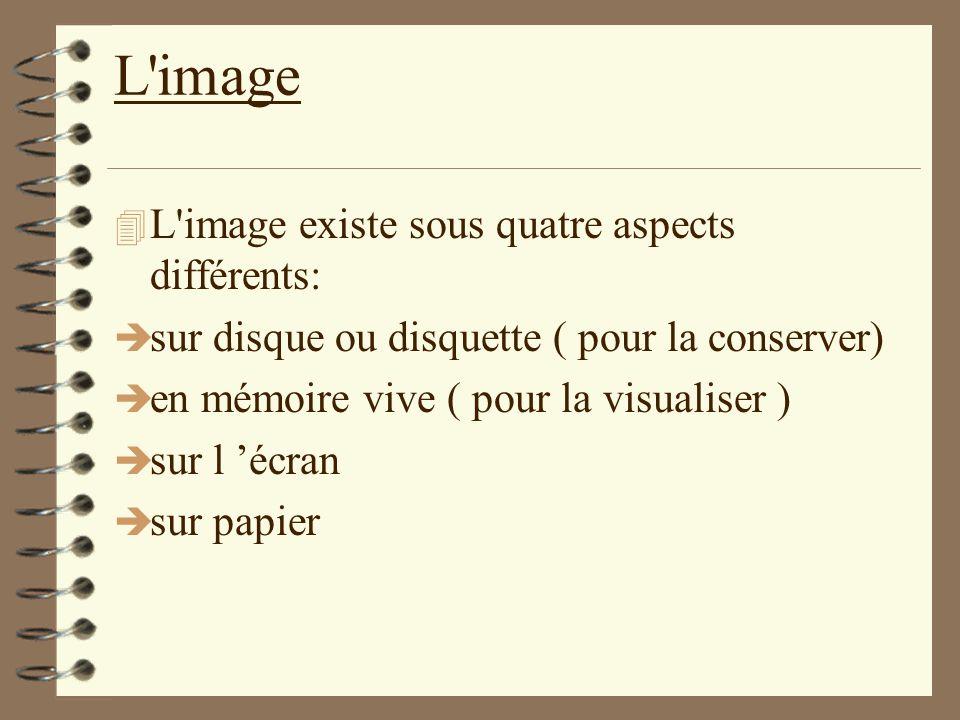L image L image existe sous quatre aspects différents: