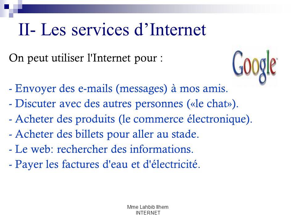 II- Les services d'Internet