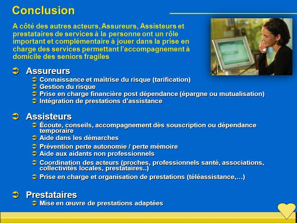 Conclusion Assureurs Assisteurs Prestataires