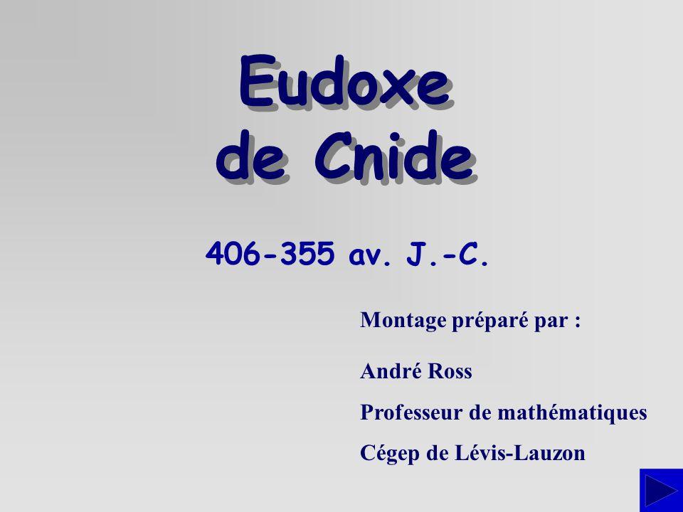 Eudoxe de Cnide 406-355 av. J.-C. Montage préparé par : André Ross
