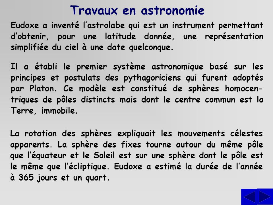 Travaux en astronomie