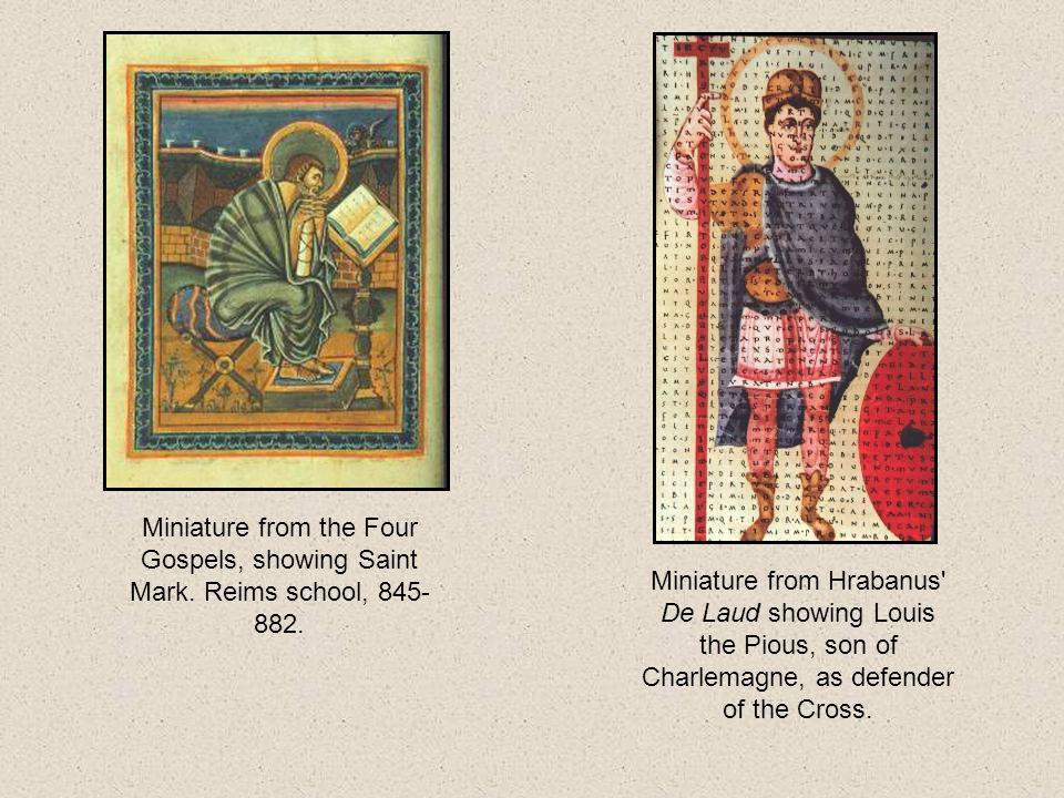 Miniature from the Four Gospels, showing Saint Mark