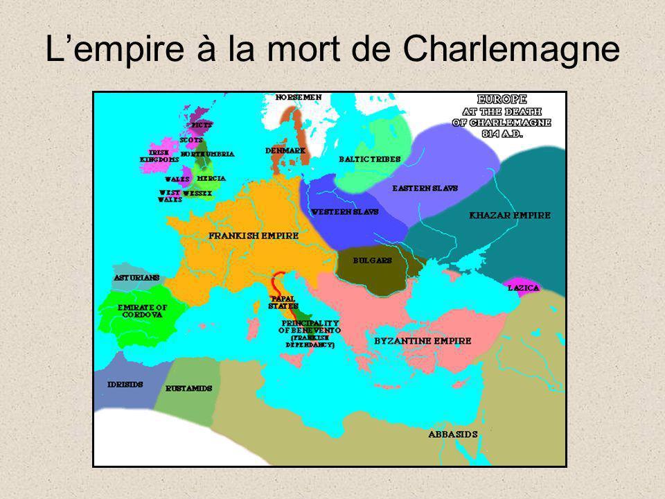 L'empire à la mort de Charlemagne