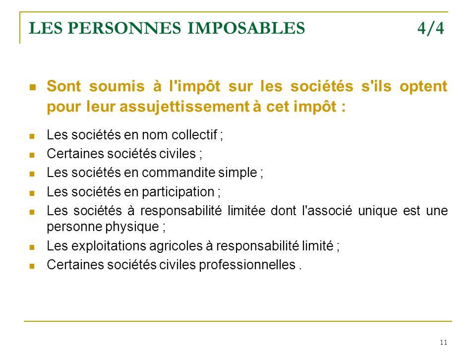 LES PERSONNES IMPOSABLES 4/4