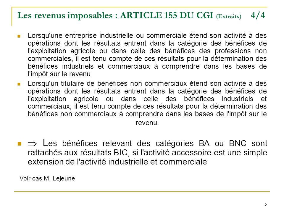 Les revenus imposables : ARTICLE 155 DU CGI (Extraits) 4/4