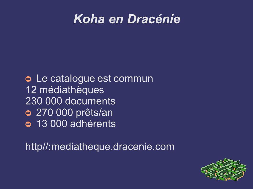 Koha en Dracénie Le catalogue est commun 12 médiathèques