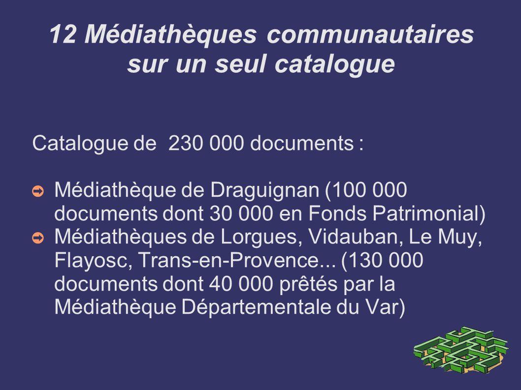 12 Médiathèques communautaires sur un seul catalogue