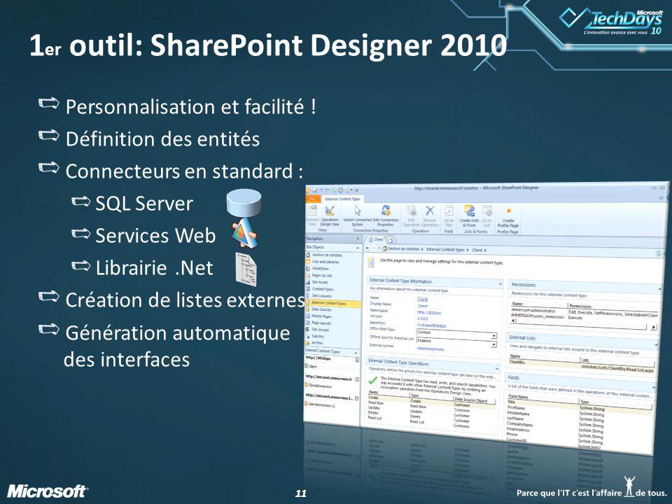 1er outil: SharePoint Designer 2010