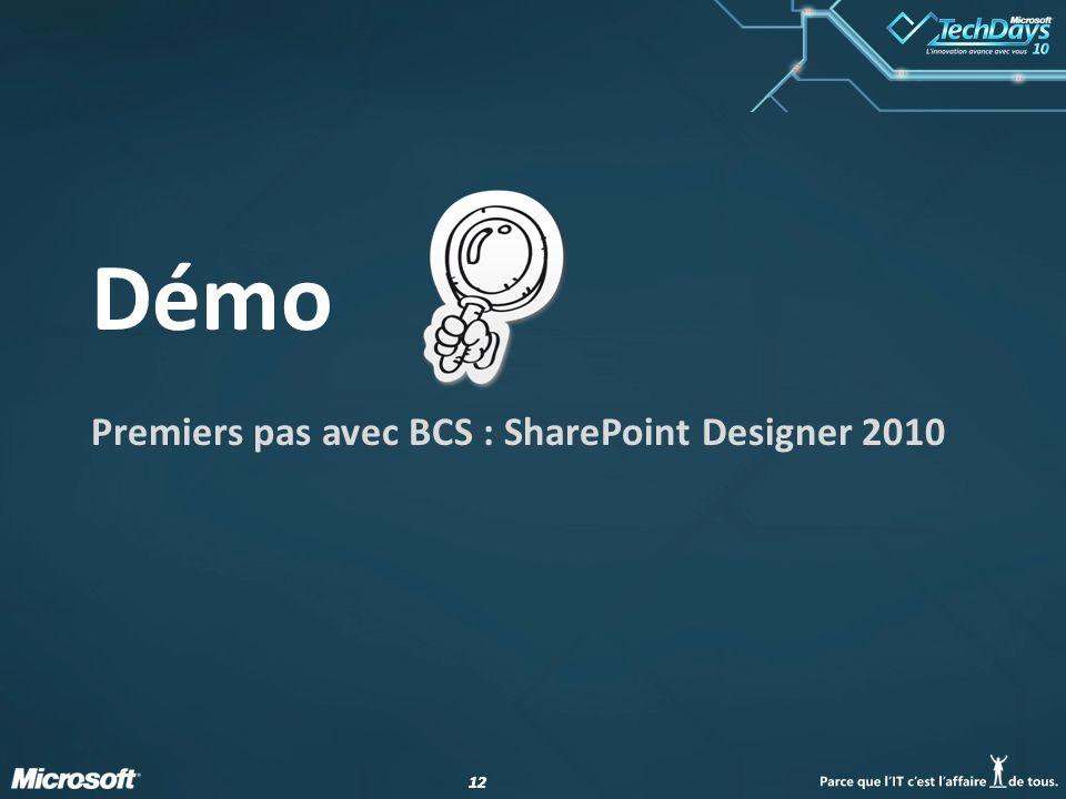 Premiers pas avec BCS : SharePoint Designer 2010