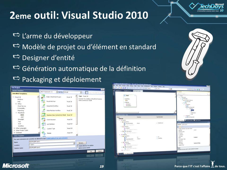 2eme outil: Visual Studio 2010